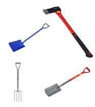 Spades, Shovels, Forks, Axes etc