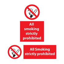 All Smoking Prohibited Sign