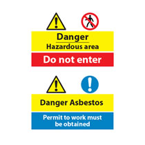 Combination Safety Signs