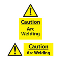 Caution Arc Welding Signs