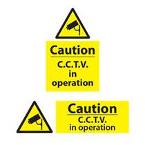 Caution CCTV Sign