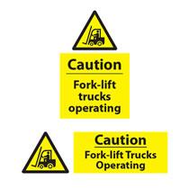 Caution Forl-Lift Trucks Sign