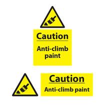 Caution Anti-Climb Paint Sign