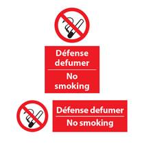Defense defumer, No Smoking Signs