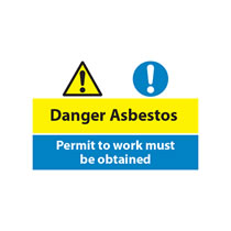 Danger Asbestos, Permit to Work Must be Obtained Sign