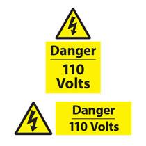 Danger 110 Volts Sign