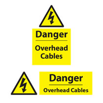 Danger Overhead Cable Sign