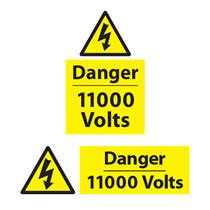 Danger 11,000 Volts Sign