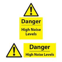 Danger High Noise Levels Sign