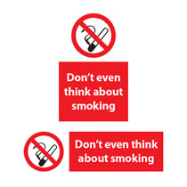 Don't even think about Smoking Signs