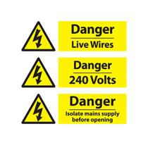 Electrical Hazard Warning Signs