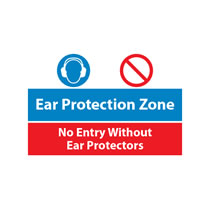 Ear Protection Zone Sign