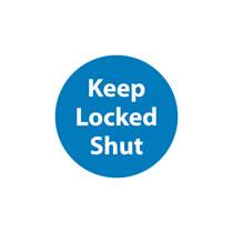 Keep Door Locked Shut Sign