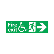 Fire Exit Sign Right Arrow Disabled