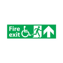 Fire Exit Sign Up Arrow Disabled