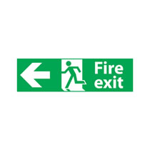 Fire Exit Signs Left Arrow