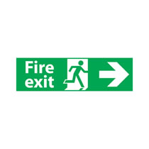 Fire Exit Signs Right Arrow
