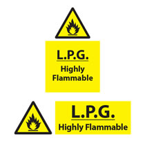 L.P.G Highly Flammable Sign