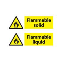 Flammable Hazard Warning Signs