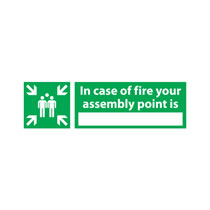 Fire Assembly Point Sign 'In Case of Fire'