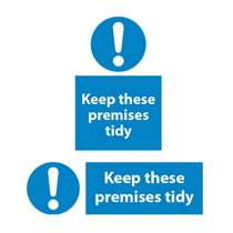 Keep Tidy Signs