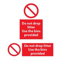 Do Not Drop Litter Sign
