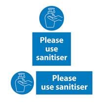 Please Use Hand Sanitiser Sign