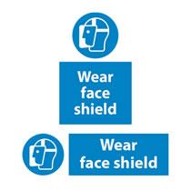 Wear Face Shield Signs