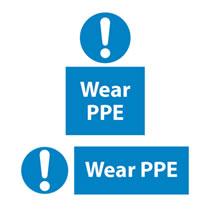 Wear PPE Sign