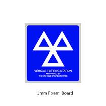3mm Foam MOT Sign