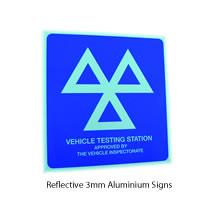 3mm Reflective Aluminium MOT Sign
