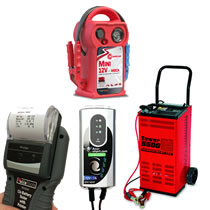Battery Chargers, Boosters, Tools