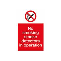 No Smoking 'Smoke Detector' Sign