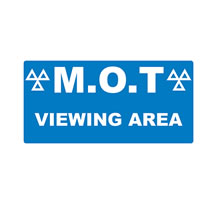 MOT Viewing Area Signs